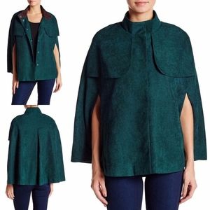 NEW Equestrian FOREST Green FAUX SUEDE CAPE Poncho
